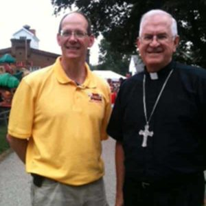 Thurman Senn and Archbishop Kurtz 2013